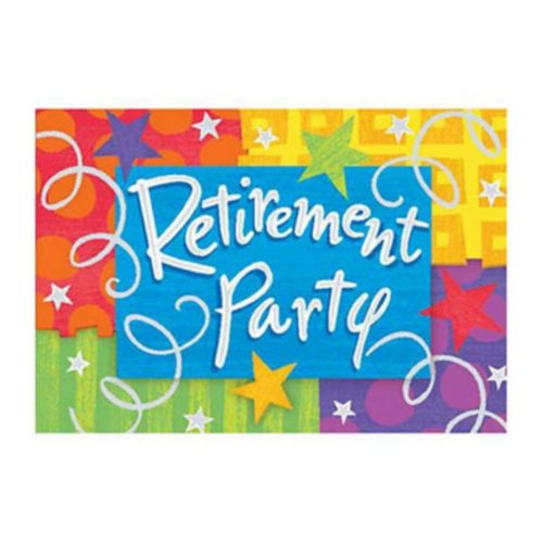 Happy Retirement Invitations, 8-pk