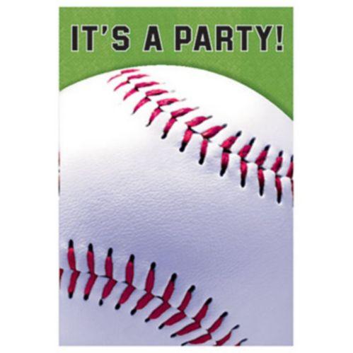 Baseball Field Invitations, 8-ct