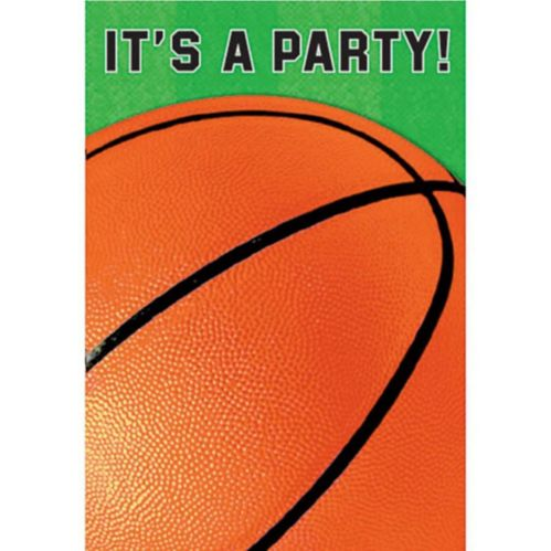 Basketball Invitations, 8-pk