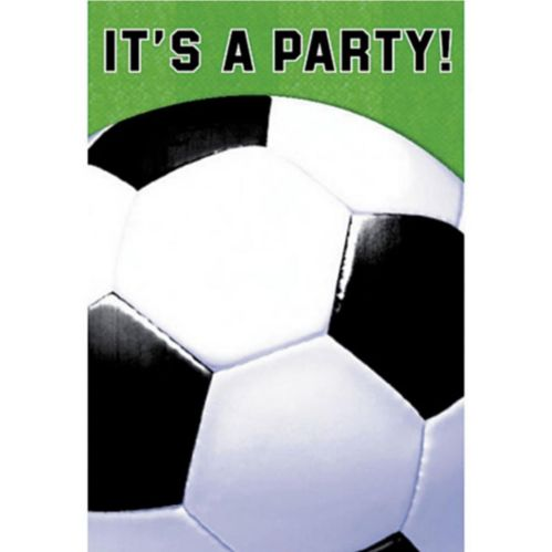 Soccer Fan Invitations, 8-pk