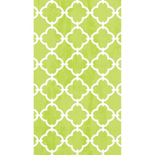 Spring Green Moroccan Tile Guest Towels, 16-pk Product image