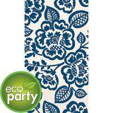 Serviettes écologiques pour invités, fleurs bleues, paq. 16