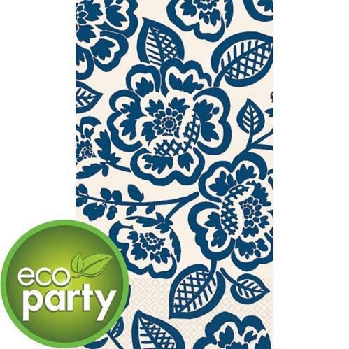 Blue Floral Eco Guest Towels, 16-pk