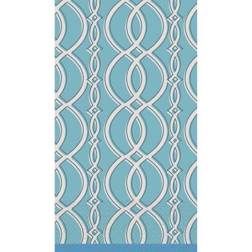 Elegant Chain Blue Guest Towels, 16-pk