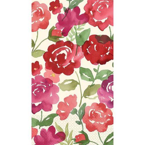 Serviettes pour invités Mélodie rose, paq. 16