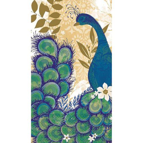 Essuie-mains d'invité avec motif de paon, paq. 16 Image de l'article