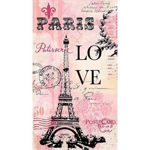 Essuie-mains d'invité Paris Love, paq. 16 Image de l'article