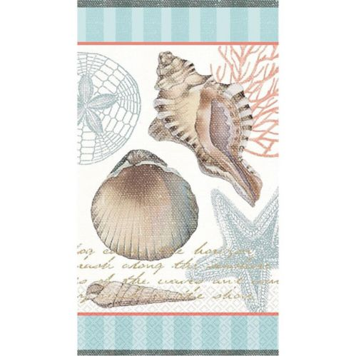 By the Sea Seashell Guest Towels, 16-pk Product image