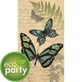 Serviettes écologiques pour invités, papillon, paq. 16