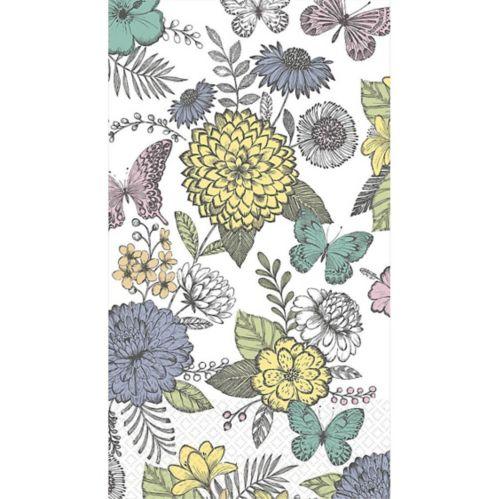 Serviettes pour invités, esquisse de papillon, paq. 16 Image de l'article