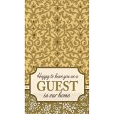 Welcome Guest Damask Guest Towels, 16-pk