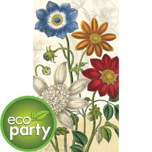 Essuie-mains d'invité écologiques de jardin rétro, paq. 16