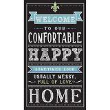 Chalkboard Happy Home Guest Towels, 16-pk