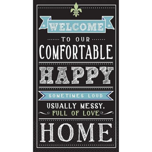 Chalkboard Happy Home Guest Towels, 16-pk Product image