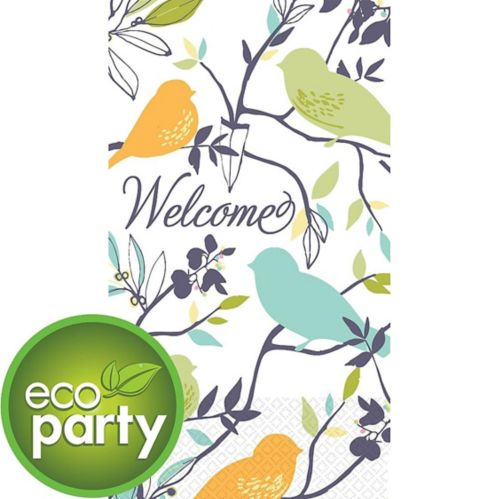 Eco-Friendly Welcome Birds Guest Towels, 16-pk