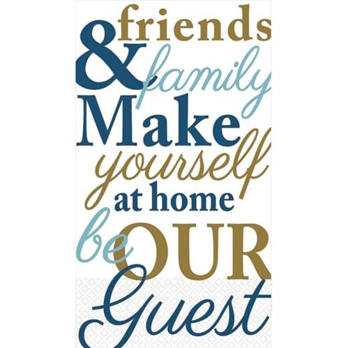 Friends & Family Typography Guest Towels, 16-pk