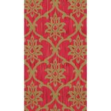 Festive Red & Gold Damask Guest Towels, 16-pk
