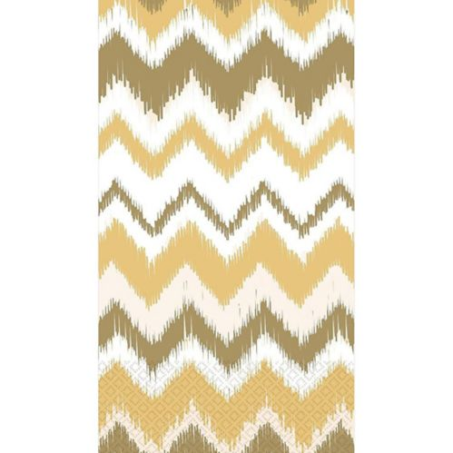 Cream Ikat Chevron Guest Towels, 16-pk