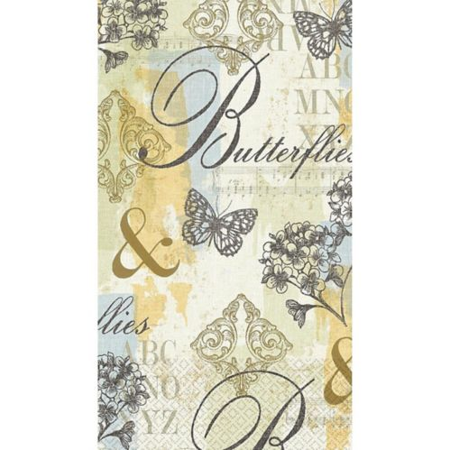 Butterfly Collage Guest Towels, 16-pk