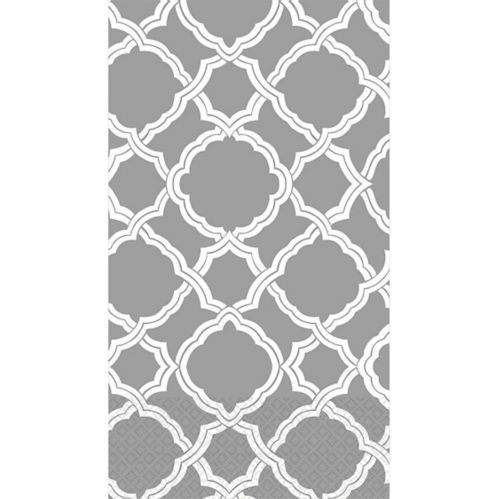 Grey & White Moroccan Guest Towels, 16-pk