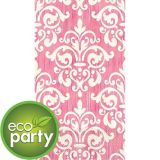 Essuie-mains d'invité écologiques en damas, rose, paq. 16