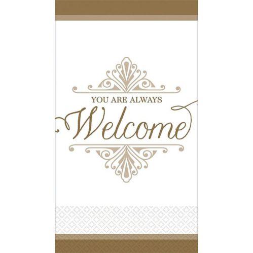 Essuie-mains d'invité haut de gamme de bienvenue, doré, paq. 16
