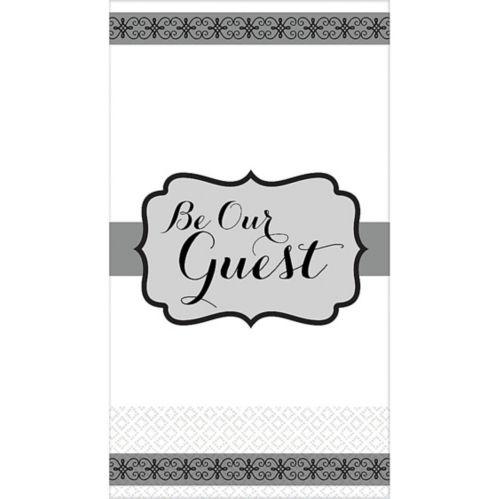 Silver Be Our Guest Premium Guest Towels, 16-pk