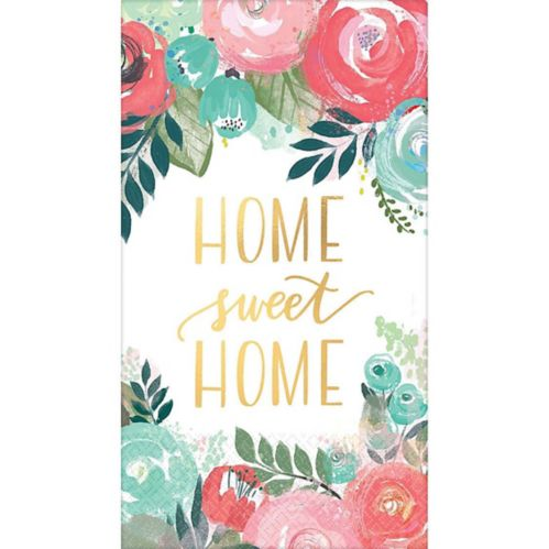 Metallic Home Sweet Home Guest Towels, 16-pk Product image
