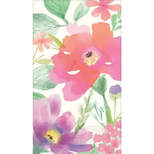 Watercolour Floral Guest Towels, 16-pk