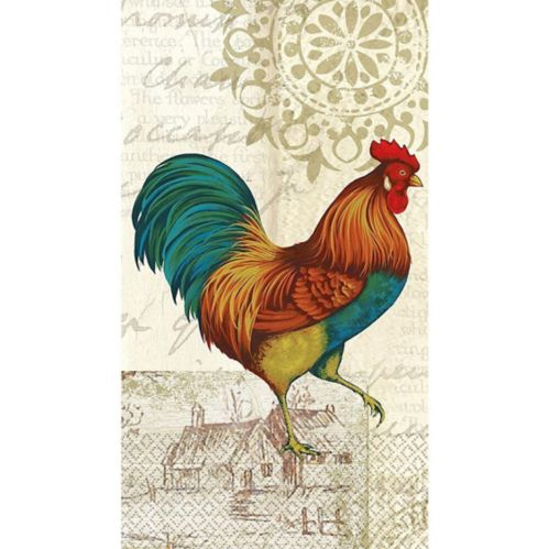 Farmhouse Rooster Guest Towels, 16-pk