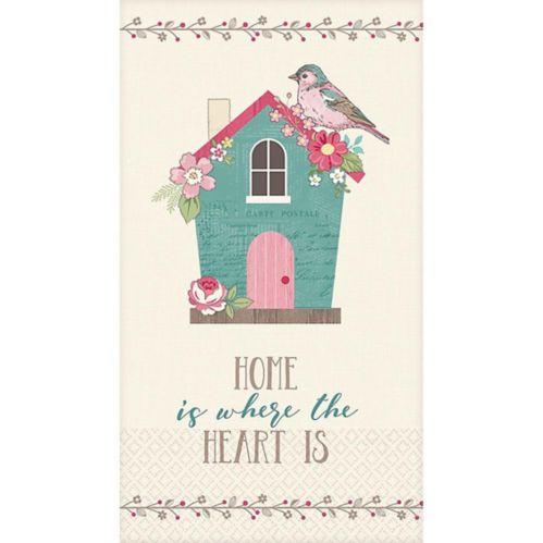 Essuie-mains d'invité Home Is Where the Heart Is, paq. 16