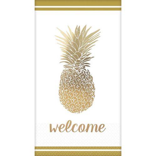 Gold Pineapple Premium Guest Towels, 16-pk