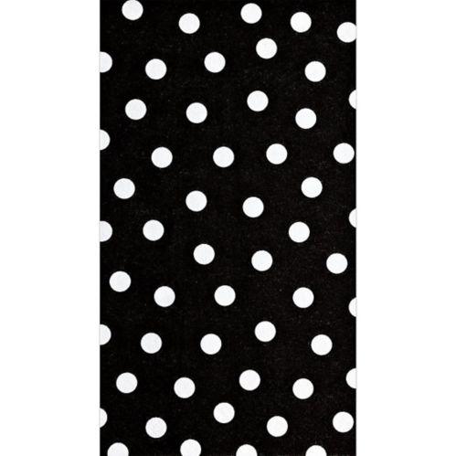 Serviettes pour invités, noir et blanc, paq. 16