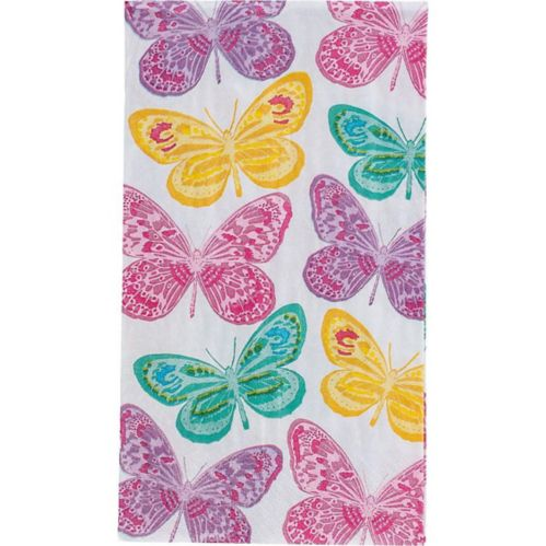 Beautiful Butterflies Guest Towels, 16-pk