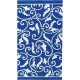 Serviettes pour invités bleu royal, paq. 16