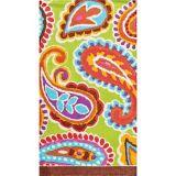 Serviettes pour invités à motif cachemire multicolore audacieux, paq. 16