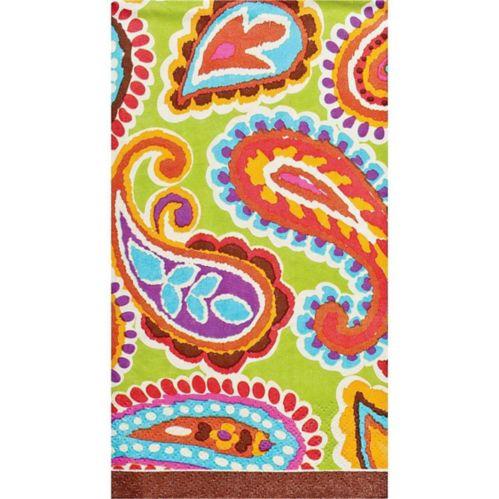 Serviettes pour invités à motif cachemire multicolore audacieux, paq. 16 Image de l'article