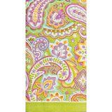 Serviettes pour invités à motif cachemire multicolore, paq. 16
