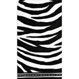 Black and White Zebra Print Guest Towels, 16-pk