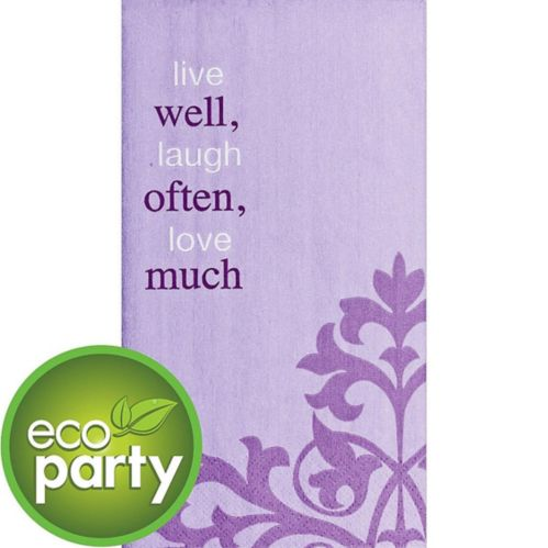 Eco-Friendly Live Well Often Guest Towels, 16-pk