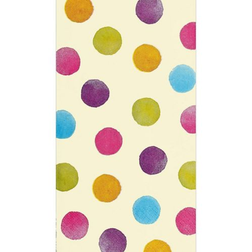 Watercolour Polka Dot Guest Towels, 16-pk