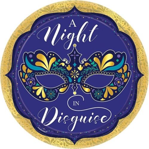 A Night in Disguise Masquerade Dinner Plates, 8-pk