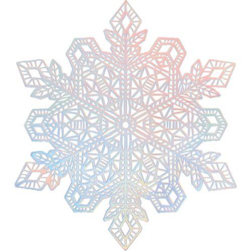 Iridescent Snowflake Vinyl Placemat