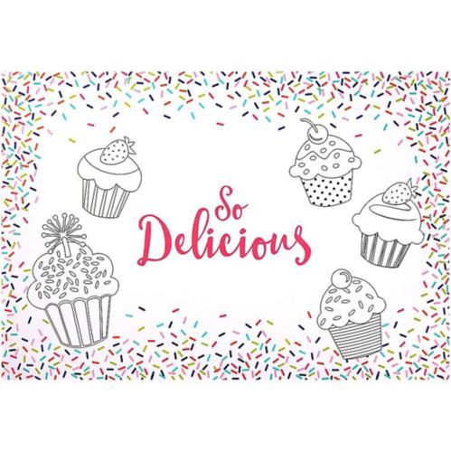 Colourful Sprinkles Colouring Placemats, 24-pk