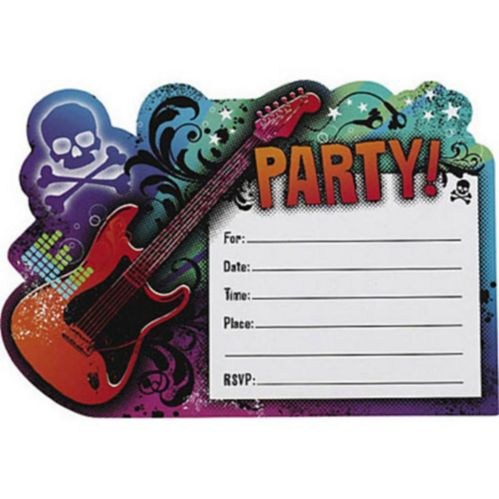 Invitation carte postale vedette rock