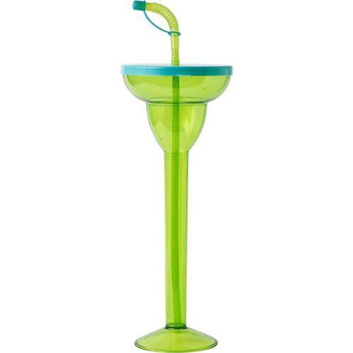 Très grand verre à margarita, bleu et vert