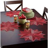 Vinyl Poinsettia Placemat