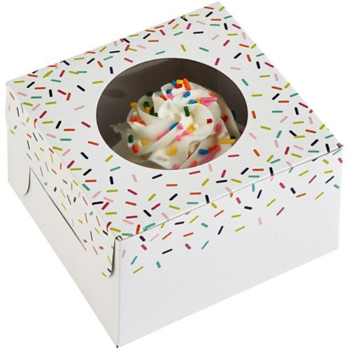 Colourful Sprinkles Window Treat Boxes, 3-pk