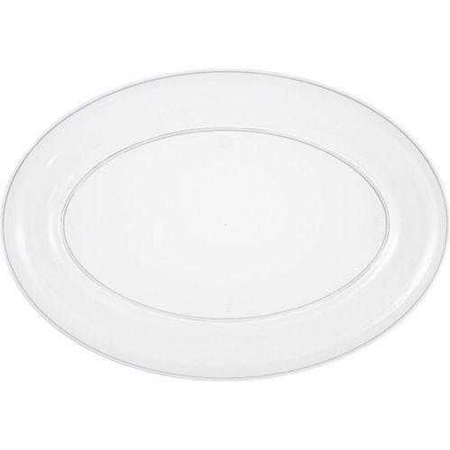 Plateau ovale transparent