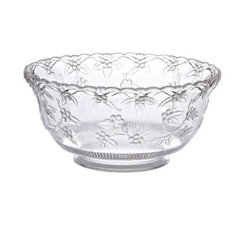 Clear Plastic Crystal Cut Punch Bowl Product image